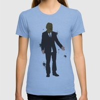 The Dark Knight: Scarecrow Womens Fitted Tee Athletic Blue SMALL