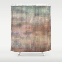 Colored landscape wicker Shower Curtain