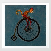 Penny Farthing Pete Art Print
