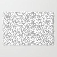 Grey Leopard Print Canvas Print