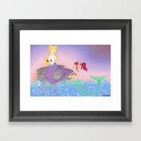 Subcultural Mermaids At … Framed Art Print