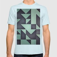 :: Geometric Maze VIII :… Mens Fitted Tee Light Blue SMALL