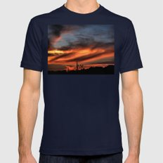 Smoke And Fire Mens Fitted Tee Navy SMALL