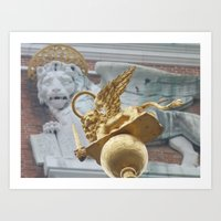 Lions on St Mark's Square Art Print