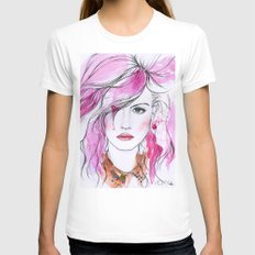 Charlotte Free Womens Fitted Tee White SMALL