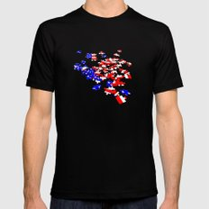 patriotic jigsaw Black Mens Fitted Tee SMALL