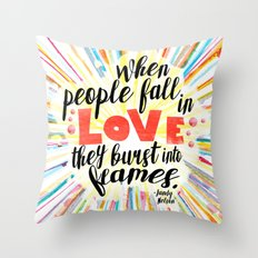 Ill Give You The Sun quote design Throw Pillow