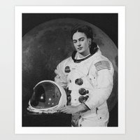 Frida In Space Art Print