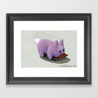 I Mustache You A Questio… Framed Art Print