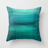 Throw Pillow featuring Lagoon by Liz Moran