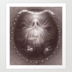 Friendly Yeti Art Print