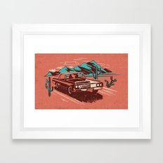 PALM SPRINGS CADILLAC Framed Art Print