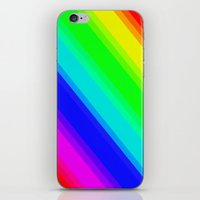 Brightly Coloured Stripes iPhone & iPod Skin