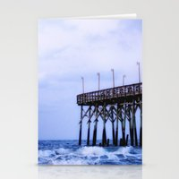 Waves Against The Pier Stationery Cards