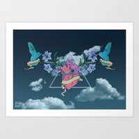 Heart In The Sky Art Print
