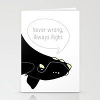 Never Wrong, Always Righ… Stationery Cards