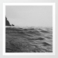 Darkness of Sea Art Print