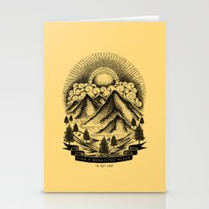 FIND A BEAUTIFUL PLACE TO GET LOST (Yellow) Stationery Cards
