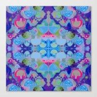 Staycation (blue) Canvas Print