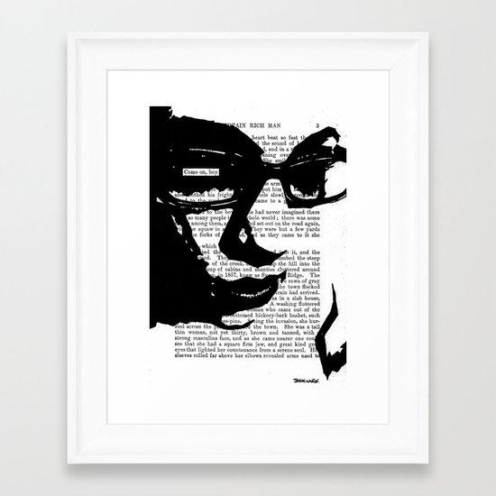 Come On, Boy Framed Art Print