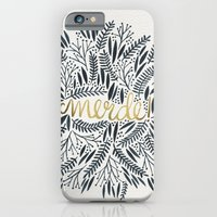 french iPhone & iPod Cases featuring Pardon My French – Black & Gold by Cat Coquillette