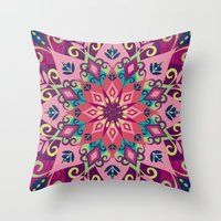 Mandala Bloom Throw Pillow