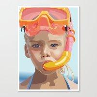 Snorkel Girl Canvas Print