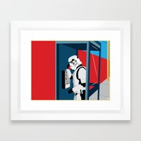 Stormtrooper Phone Home Framed Art Print