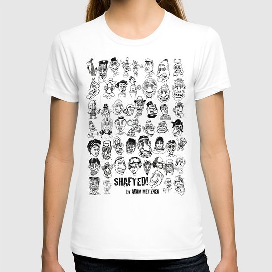 51 Shafted! characters on 1 print T-shirt