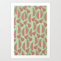 Watermeloon Art Print