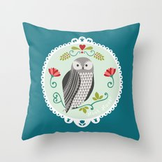 Piccola Damigella Gufo Throw Pillow