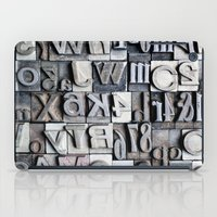 Letterpress iPad Case