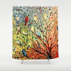 27 Birds Shower Curtain