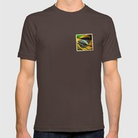 Sticker Of Brazil Flag Mens Fitted Tee Brown SMALL