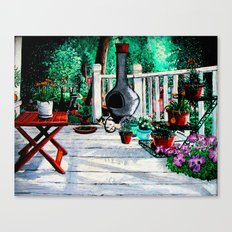 Back Porch Garden Canvas Print