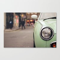 The Green Car Canvas Print