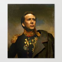 Nicolas Cage - Replacefa… Canvas Print