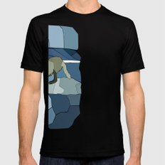 Artic Wolf SMALL Black Mens Fitted Tee