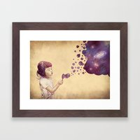 Cosmic Bubbles Framed Art Print