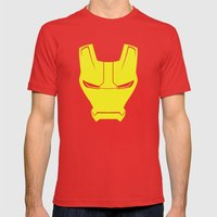 Iron Man Mens Fitted Tee Red SMALL