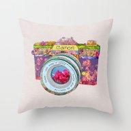 Floral Canon Throw Pillow
