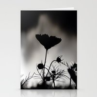 Flower In Black And Whit… Stationery Cards