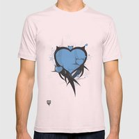 Art Poster Blue Mens Fitted Tee Light Pink SMALL