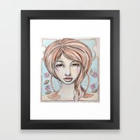 art nouveau Framed Art Print
