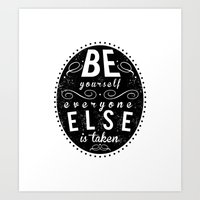 Inspire Yo Self  Art Print