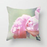 Pink Peony 1 Throw Pillow