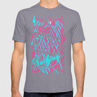 Rue Nothing Sketch Print Mens Fitted Tee Slate SMALL