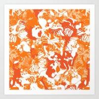 My Orange Butterflies Art Print