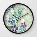 Summer blossom Wall Clock