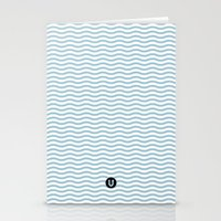 U12: postal blue Stationery Cards
